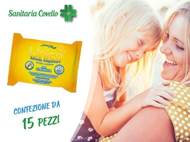 offerta Salviettine Antipuntura Citronella bimbi - promozione salviette unico sterilfarma
