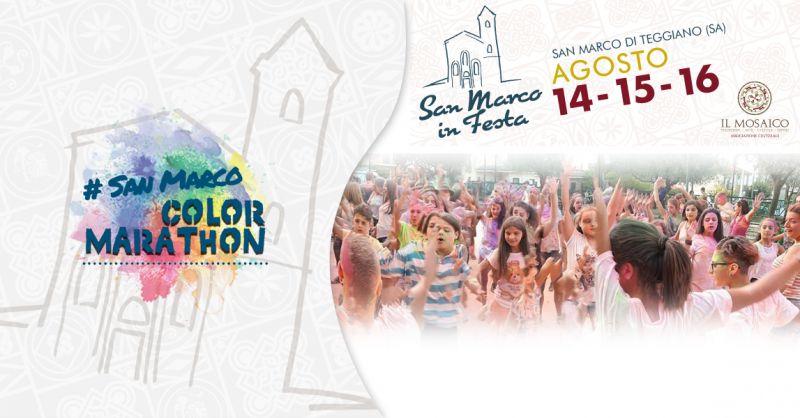 Offerta evento speciale San Marco in Festa a Teggiano - Promozione Color Marathon a Teggiano