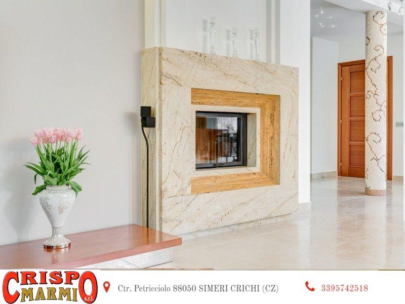 offerta rivestimento camino termocamino marmo catanzaro-promo rivestimento caminetto Crispo