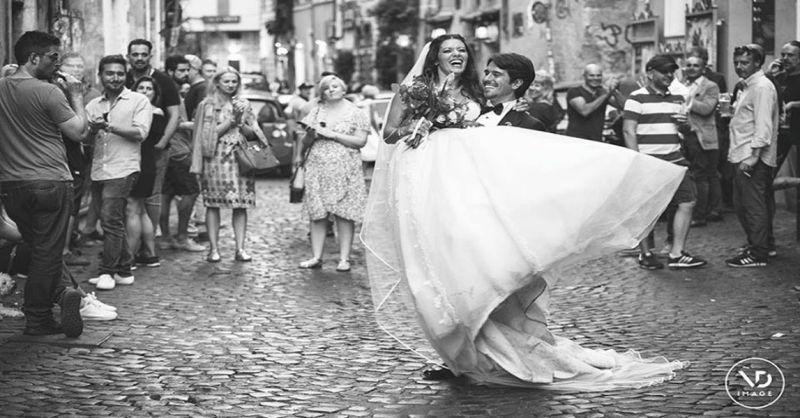 offerta realizzazione video matrimoniale Roma - occasione wedding trailer con drone Roma