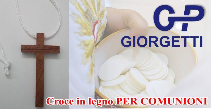 offerta vendita croce legno per comunione a loreto - promozione vendita croci legno comunioni