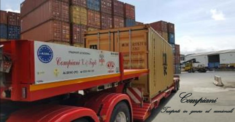 offerta trasporto di container Piacenza - occasione trasporti con semirimorchi ribassati