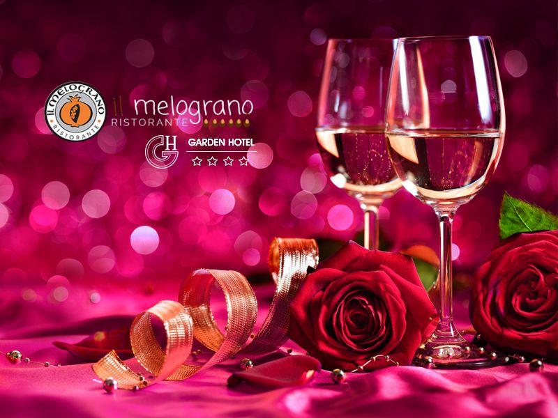offerta pacchetto san valentino coppie garden hotel - cena per due ristorante melograno