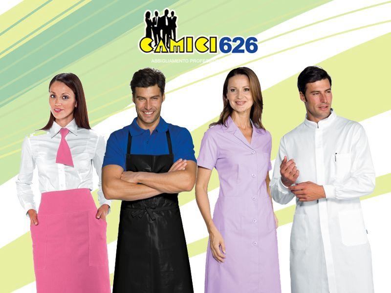 offerta abbigliamento professionale - promozione accessori professionali - camici 626