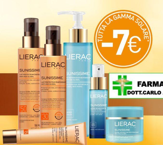 promozione solari Lierac - offerta prodotti sunissime Lierac - Farmacia Avataneo selargius