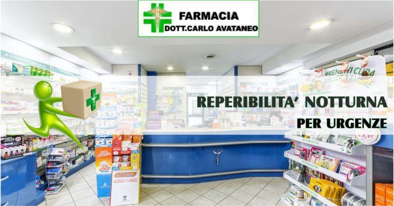 AVATANEO FARMACIA - OFFERTA SERVIZIO DI REPERIBILITÀ NOTTURNA O GUARDIA FARMACEUTICA SELARGIUS