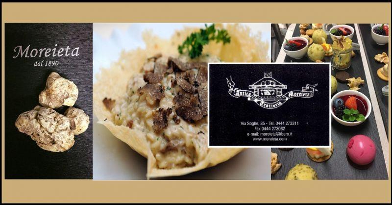 offerta Risotto al tartufo nero - occasione specialità cucina tipica Vicentina MOREIETA