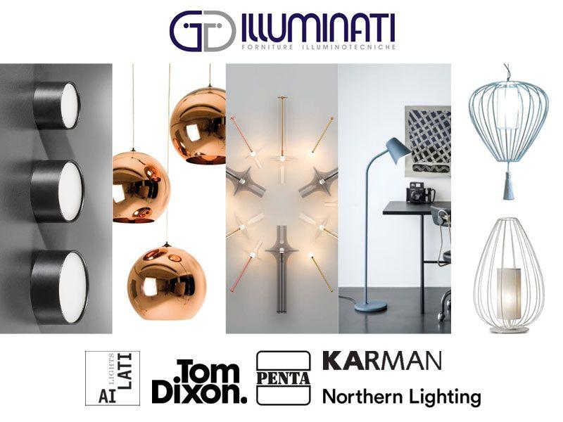 offerta lampade Penta e Karman - promozione lampade Northen Light e Tom Dixon  e Ai lati lights