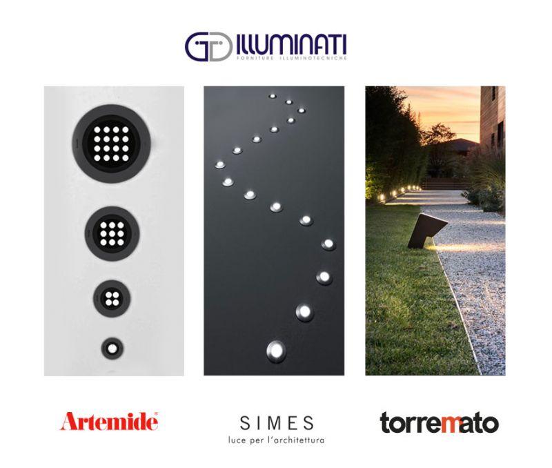 offerta consulenza illuminazione outdoor - lampade esterni artemide simes torremato
