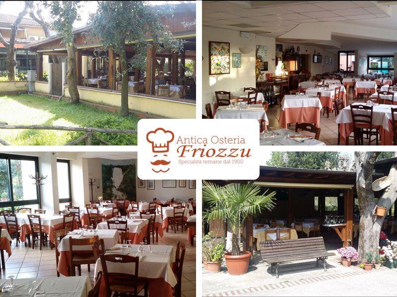 offerta cucina locale umbra promozione ristorante tavoli all'aperto antica osteria friozzu