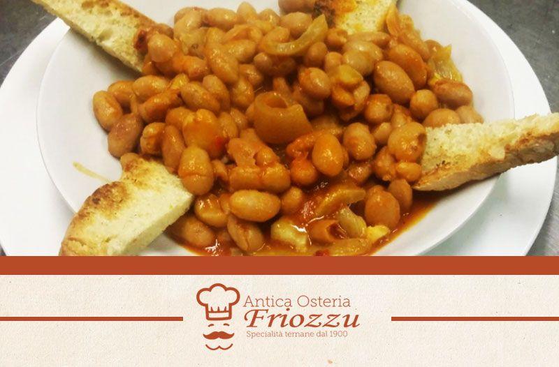 offerta fagioli con le cotiche - ristorante specialità ternane