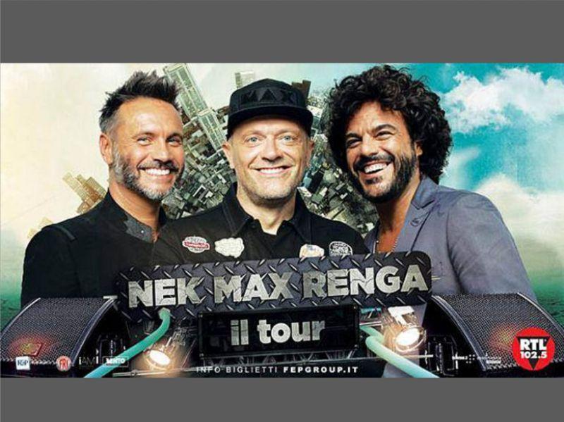 Eventi e concerti Cagliari 2018 - Nek Max Renga - Fiera di Cagliari