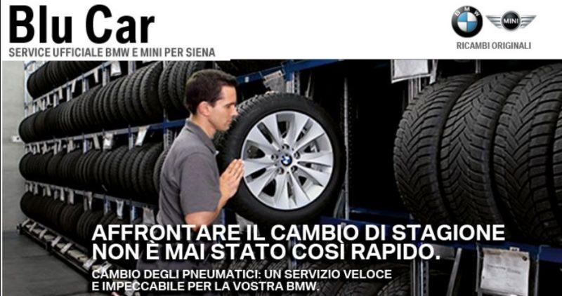 Promozione sostituzione gomme BMW - Cambio pneumatici BMW a Siena
