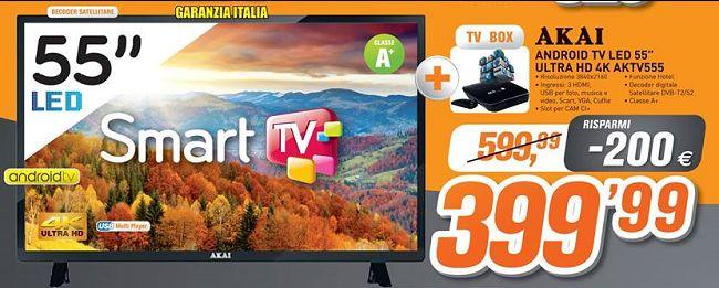 Offerta AKAI Android TV LED 55