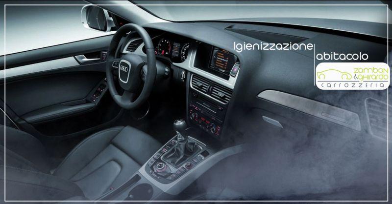 Offerta servizio professionale igienizzazione abitacolo per auto a Treviso - Carrozzeria Zambon