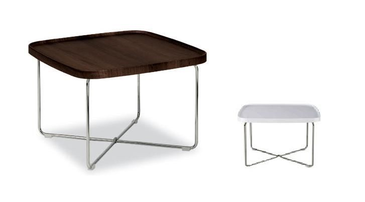 Tavolino da salotto Tray con piano bianco lucido