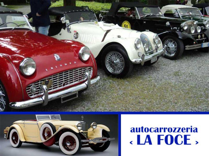offerta restauro auto d'epoca - promozione riparazione auto storiche - autocarrozzeria la foce