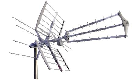 antenna logaritmica iii iv v 56 elementi lte free premontata