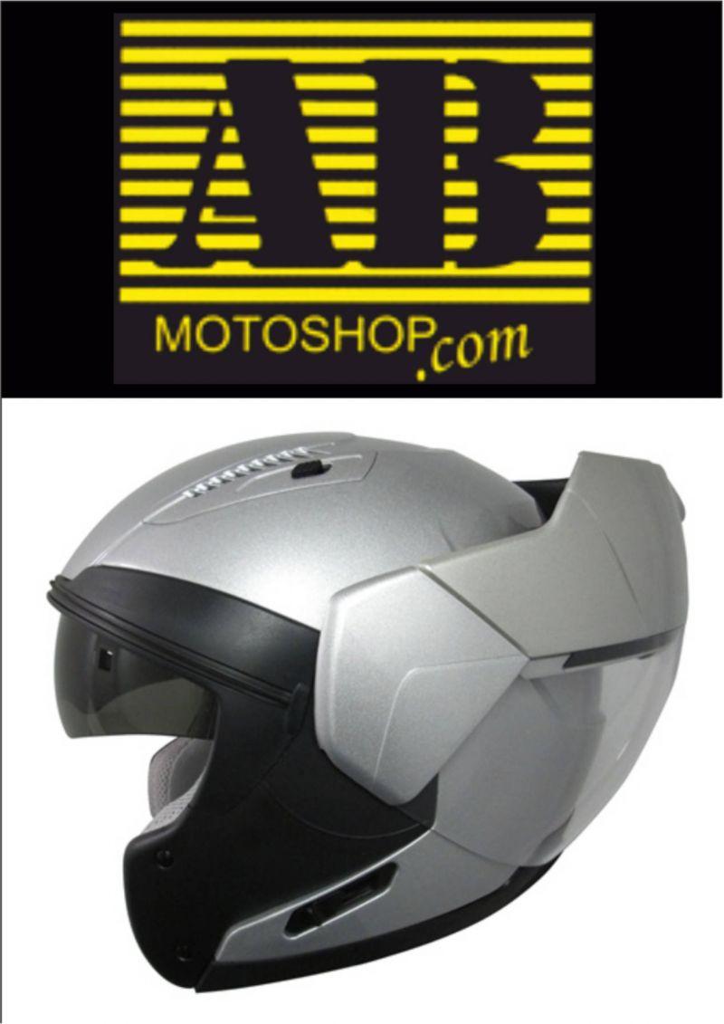 CASCO SHUBERTH C3 ARGENTO METALLIZZATO LUCIDO; MOTO; AB MOTO;