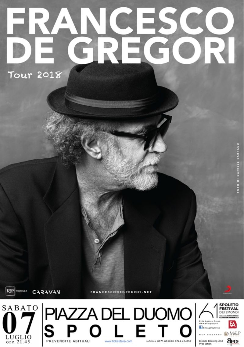 offerta biglietti francesco de gregori spoleto 2018 - concerto De gregori 7 luglio 2018 spoleto