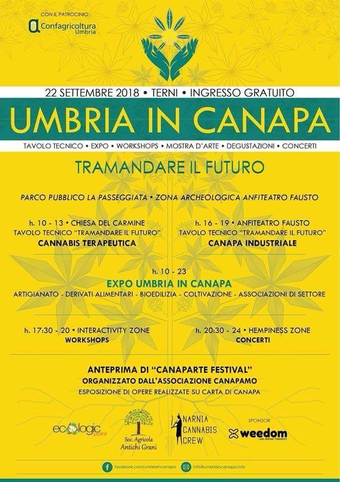 Umbria in canapa tramandare il futuro - evento expo canapa umbria