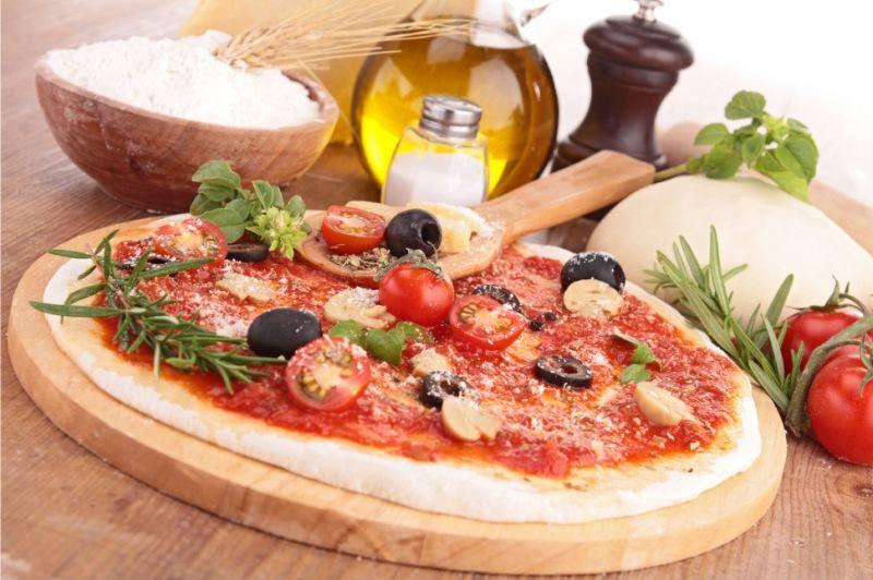 pizza di kamut integrale e al carbone vegetale