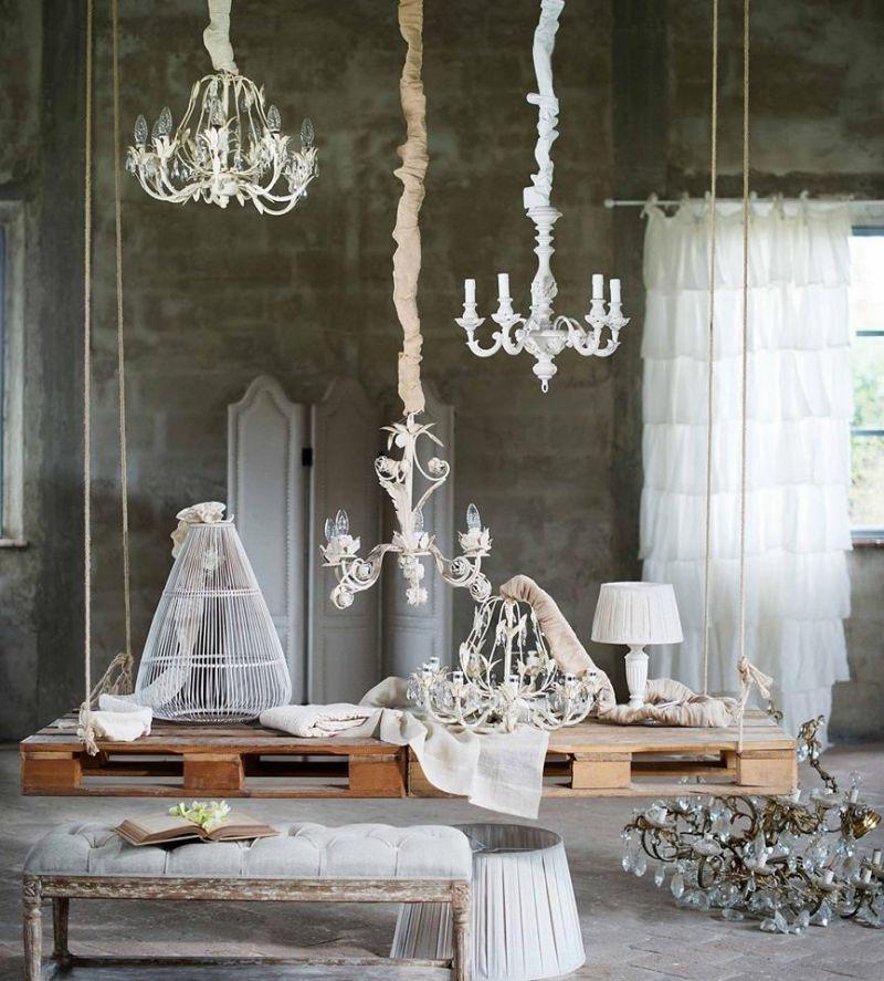 Lampadari, lampade ed accessori in stile Shabby