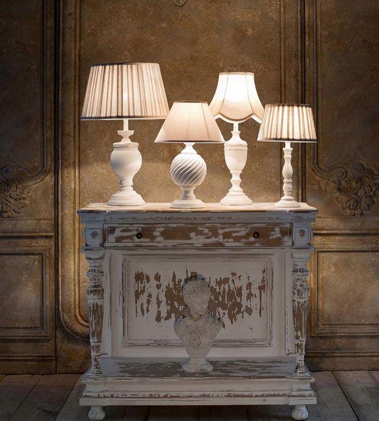 lampade da tavolo da tavolino in stile shabby