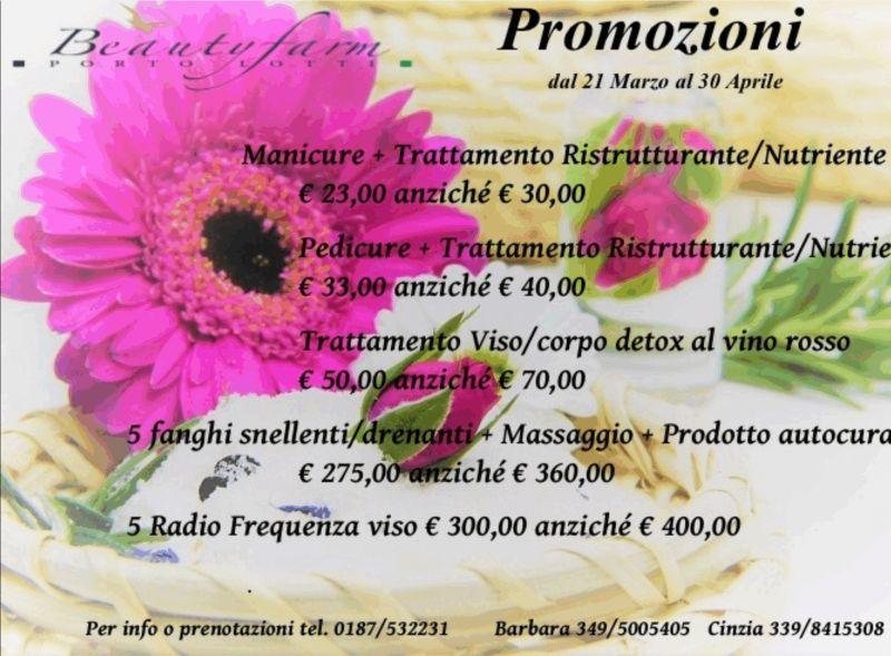 Promozioni Beautyfarm Porto Lotti