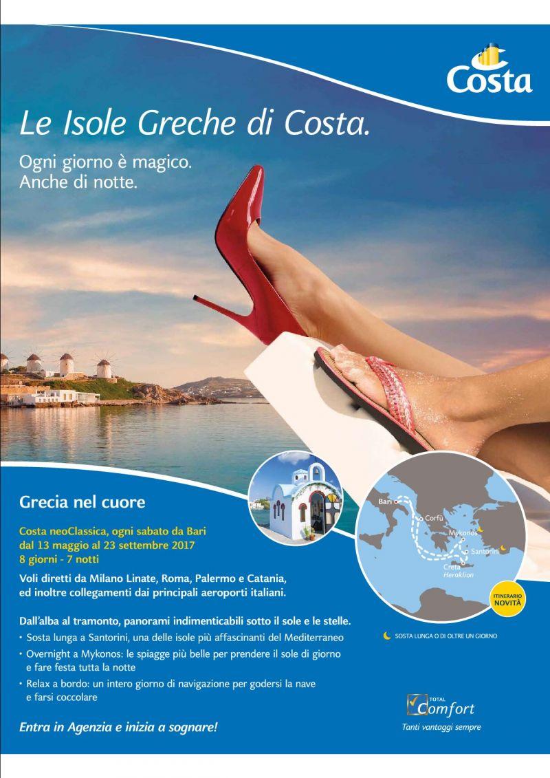 le isole greche di costa crociere