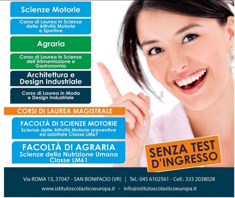 offerta universita on line promozione universita telematica senza test di ingesso verona