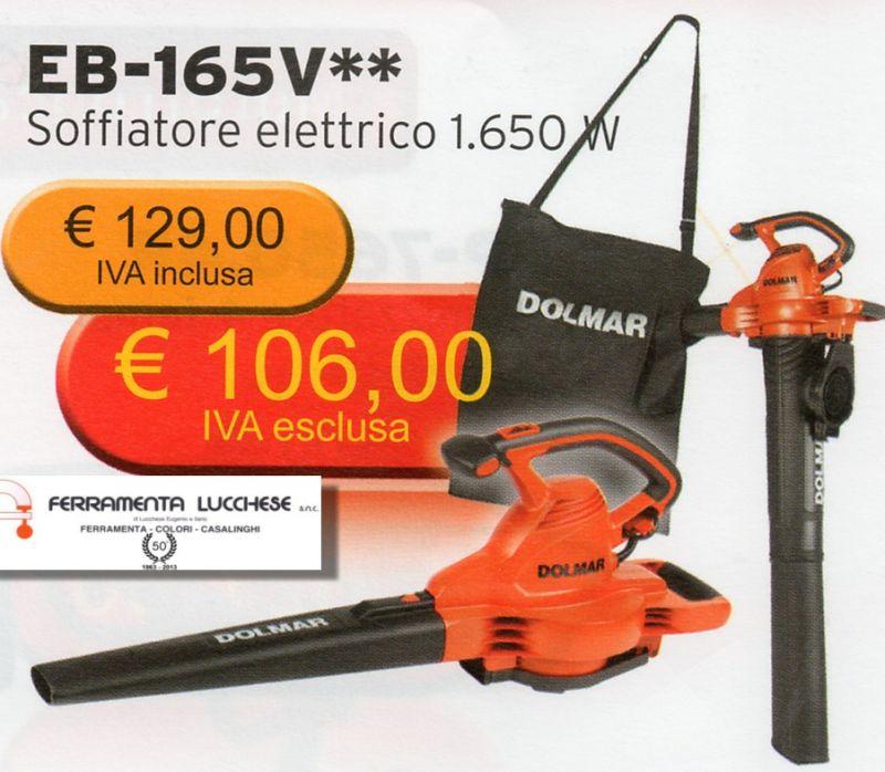 soffiatore aspiratore foglie elettrico eb 165v