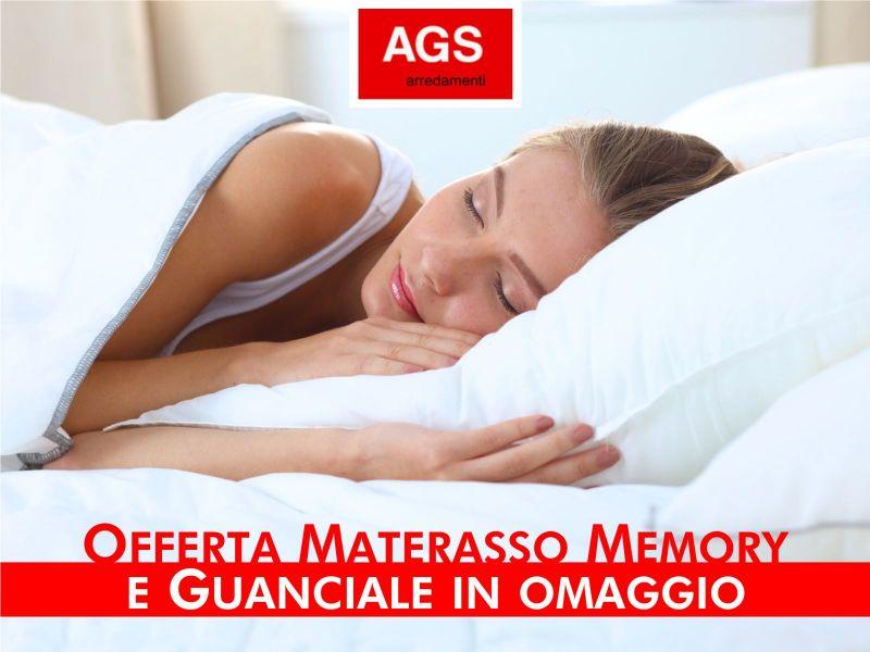 Offerta materasso memory - occasione guanciale omaggio - Ags Arredamenti