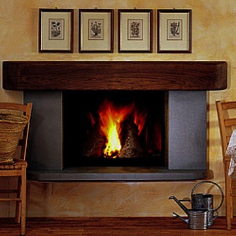 caminetto kingfire mod sweet home completo di rivestimento
