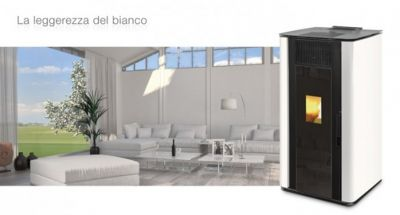 stufa a pellet unical punto it 8 5 kw bianca