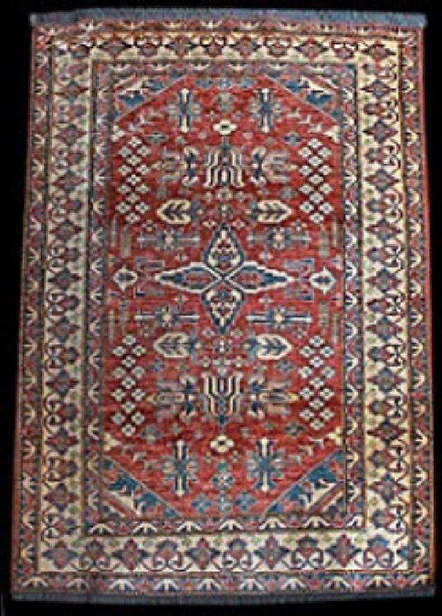 tappeto uzbekistan di recente manifattura