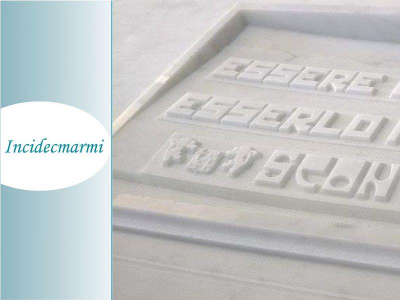 Incidecmarmi - incisione altorilievi su marmo e pietra  lavorazioni in 3D