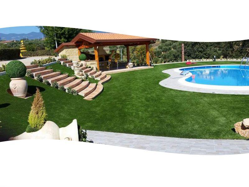 Promozione -Erba sintetica per giardini Castrolibero - Offerta giardini Castrolibero