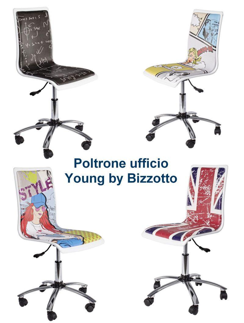 Offerta poltrona ufficio. Sedia con ruote in promozione