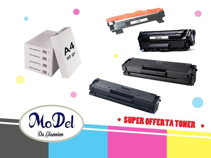 offerta toner e carta stampante a4 - toner stampante samsung hp brother