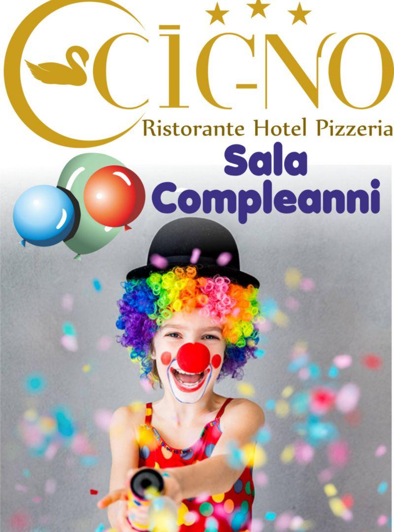 Sala compleanni Hotel Ristorante Pizzeria il Cigno