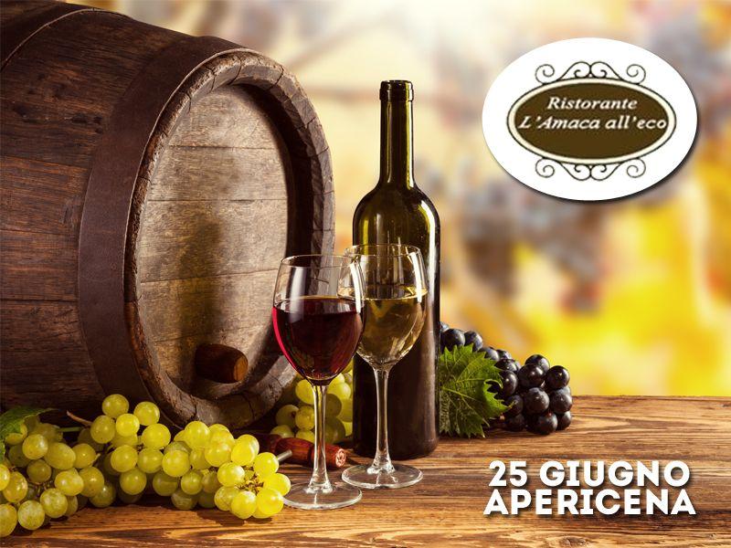offerta apericena degustazione vini - promozione degustare vino - ristorante amaca all'eco