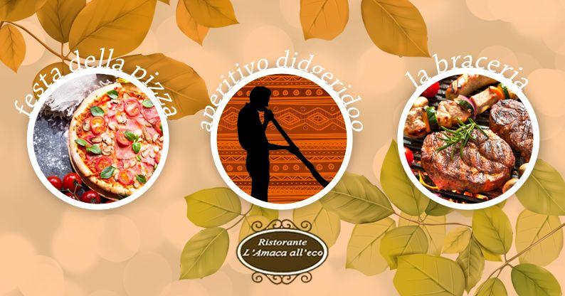offerta eventi autunno 2018 piediluco - promozione ristorante amaca all'eco piediluco