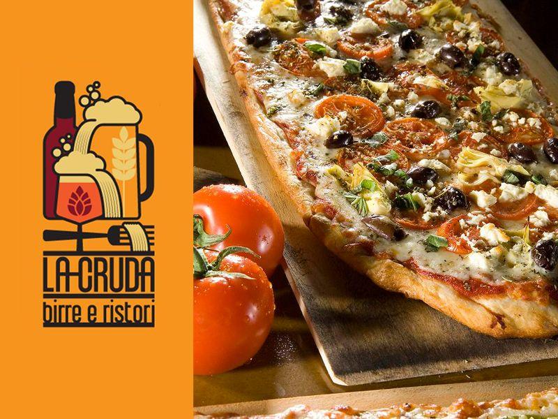 offerta specialita pizza e birra - promozione pizza alla pala - la cruda ristorante birrario