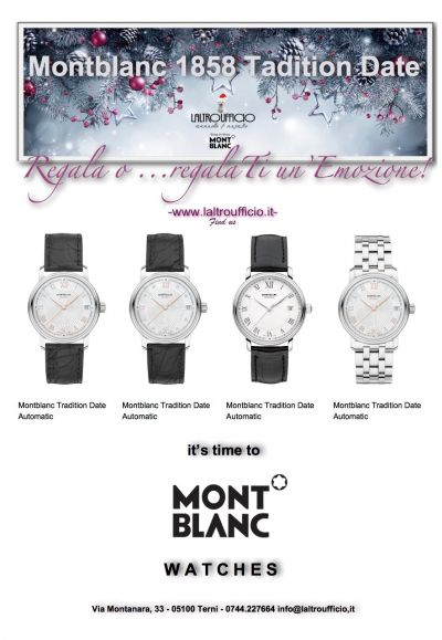 montblanc 1858 tradition date watches
