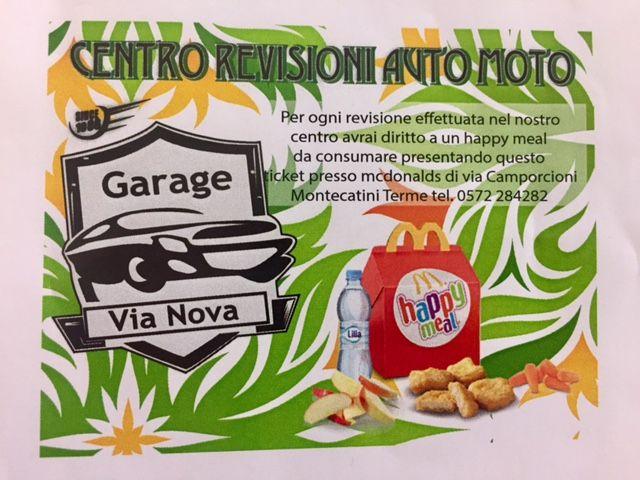 BUONO HAPPY MEAL REVISIONE AUTO MOTO