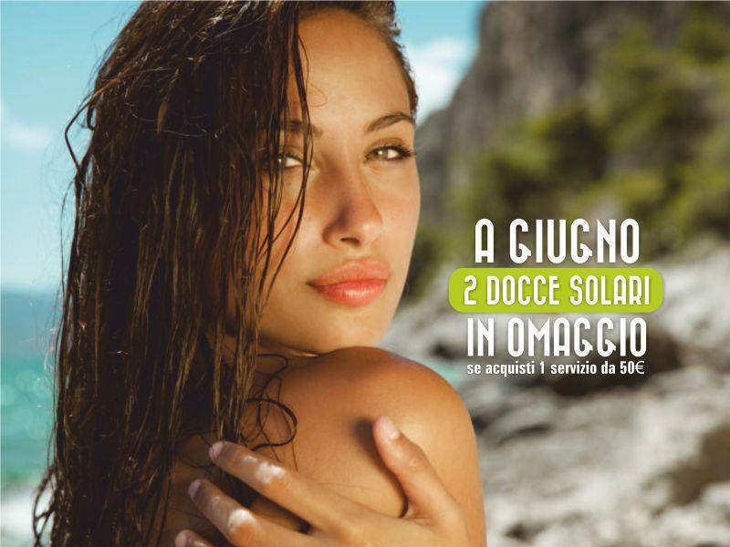 Offerta abbronzatura - promozione docce solari in omaggio - Centro Estetico Patrizia