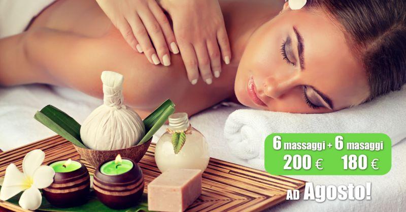 offerta pacchetto 6 massaggi corpo - promozione massaggio centro estetico erice