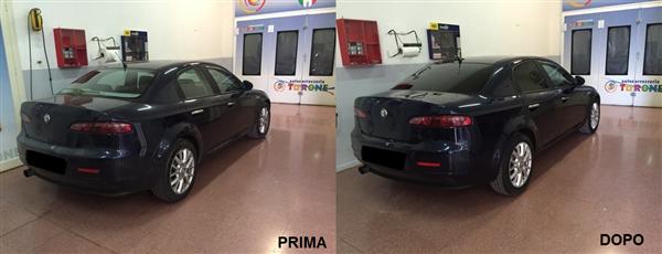 oscuramento vetri alfa 159 prima e dopo