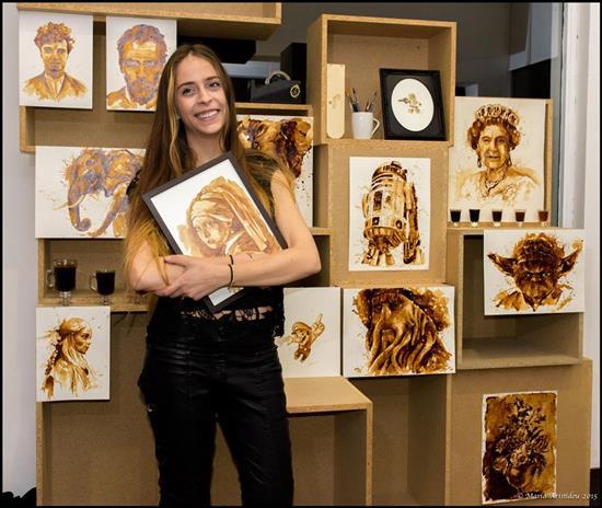 Maria A. Aristidou, quando il caffè diventa pittura - Diba 70 rassegna stampa